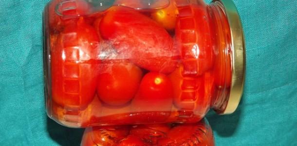 Рецепт очень вкусных консервированных помидор