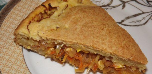 Пирог с капустой без дрожжей, рецепт с фото пошагово в духовке