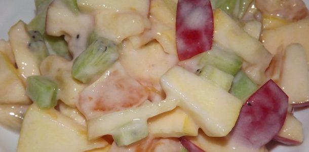 Легкий салат на праздничный стол без майонеза