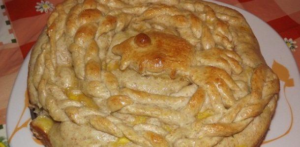 Пирог с рыбой из дрожжевого теста, рецепт с фото