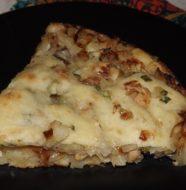 Постный пирог с капустой и грибами из дрожжевого теста