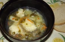 Суп с сырными клецками, рецепт с фото