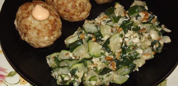 Салат из кабачка и орехов