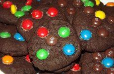Рецепт печенья с конфетами