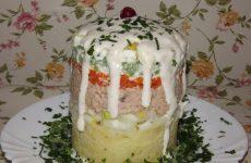 Салат из печени трески классический, рецепт с фото