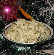 Рецепт постного оливье с грибами