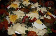 Салат из замороженных овощей, рецепт