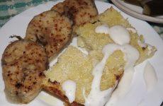 Картофельная запеканка с сыром и чесноком в духовке