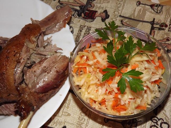 Оригинальный салат с капустой