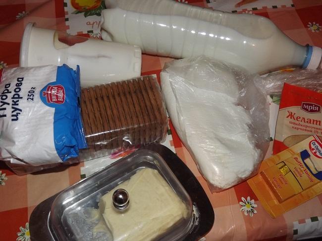 Ингредиенты классического чизкейка