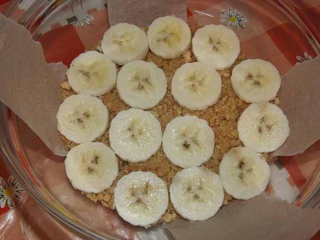 Сырный десерт с бананом