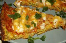 пицца из кабачков в духовке рецепт с фото