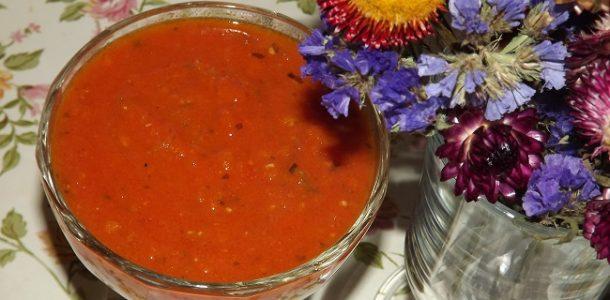 Томатный соус на зиму, рецепт с фото пошагово