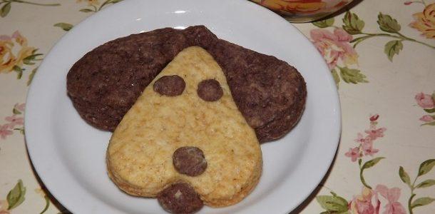 Печенье в форме собачек