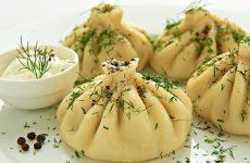 Хинкали с грибами, грузинский рецепт